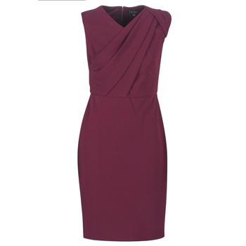 vaatteet Naiset Pitkä mekko Lauren Ralph Lauren RUBY SLEEVELESS DAY DRESS Bordeaux