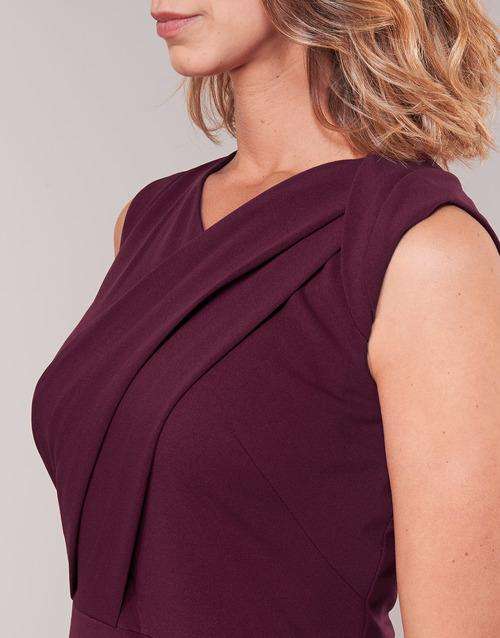 Lauren Ralph Ruby Sleeveless Day Dress Bordeaux - Ilmainen Toimitus- Vaatteet Pitkä Mekko Naiset 103