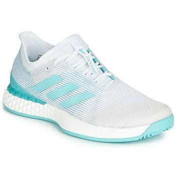 kengät Naiset Juoksukengät / Trail-kengät adidas Performance ADIZERO UBERSONIC 3M X PARLEY White / Blue