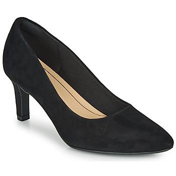 kengät Naiset Korkokengät Clarks CALLA ROSE Black