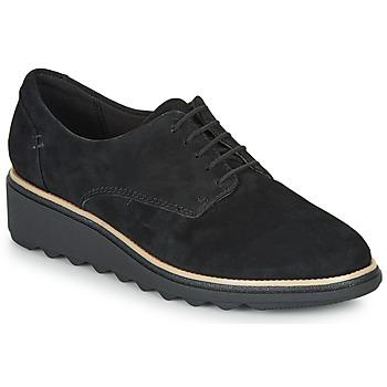 kengät Naiset Derby-kengät Clarks SHARON NOEL Black