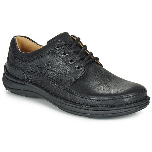 kengät Miehet Derby-kengät Clarks NATURE THREE Musta