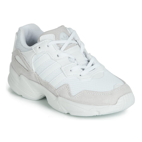 kengät Lapset Matalavartiset tennarit adidas Originals YUNG-96 C White