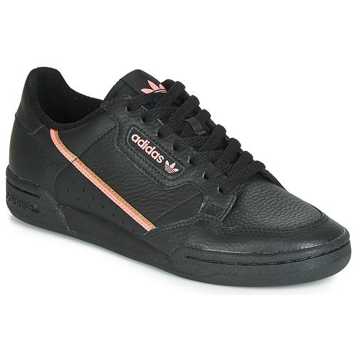 kengät Naiset Matalavartiset tennarit adidas Originals CONTINENTAL 80 W Black