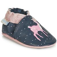 kengät Tytöt Vauvan tossut Robeez LITTLE FAWN Laivastonsininen / Pink