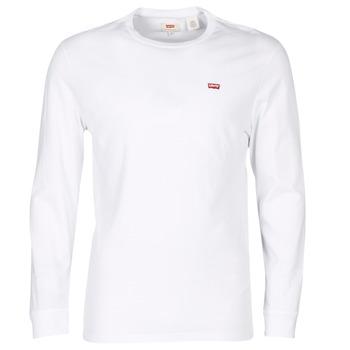 vaatteet Miehet Lyhythihainen t-paita Levi's LS ORIGINAL HM TEE White