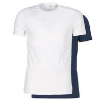 vaatteet Miehet Lyhythihainen t-paita Levi's SLIM 2PK CREWNECK 1 Laivastonsininen / Valkoinen
