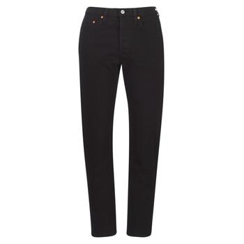 vaatteet Naiset Boyfriend-farkut Levi's 501 CROP Musta / Black multi wf sde