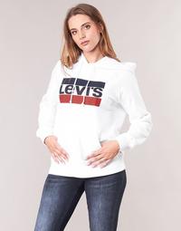 vaatteet Naiset Svetari Levi's GRAPHIC SPORT HOODIE Valkoinen