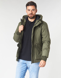 vaatteet Miehet Pusakka Scotch & Soda SHORT HOODED JACKET WITH INSIDE QUILTING Kaki