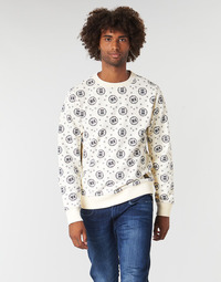 vaatteet Miehet Svetari Scotch & Soda CREWNECK SWEAT WITH LOGO ALL-OVER PRINT White