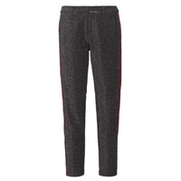 vaatteet Naiset 5-taskuiset housut Maison Scotch TAPERED LUREX PANTS WITH VELVET SIDE PANEL Grey