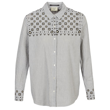 vaatteet Naiset Paitapusero / Kauluspaita Maison Scotch BUTTON UP SHIRT WITH BANDANA PRINT Grey