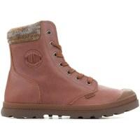 kengät Naiset Bootsit Palladium Manufacture Pampa Knit LP F Ruskeat