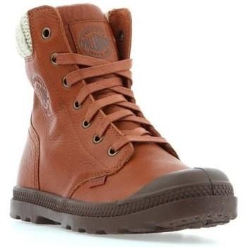 kengät Naiset Bootsit Palladium Manufacture Pampa HI Knit LP Ruskeat