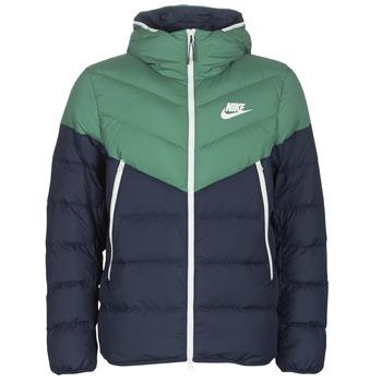 vaatteet Miehet Toppatakki Nike M NSW DWN FILL WR JKT HD Laivastonsininen / Green