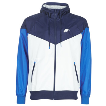 vaatteet Miehet Tuulitakit Nike M NSW HE WR JKT HD Blue / White