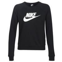 vaatteet Naiset Svetari Nike W NSW ESSNTL CREW FLC HBR Musta