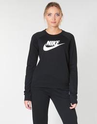 vaatteet Naiset Svetari Nike W NSW ESSNTL CREW FLC HBR Black