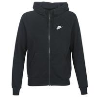 vaatteet Naiset Svetari Nike W NSW ESSNTL HOODIE FZ FLC Black