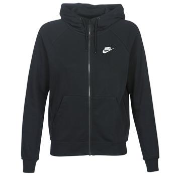 vaatteet Naiset Svetari Nike W NSW ESSNTL HOODIE FZ FLC Musta