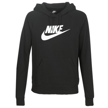 vaatteet Naiset Svetari Nike W NSW ESSNTL HOODIE PO  HBR Black
