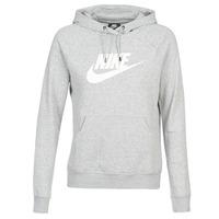 vaatteet Naiset Svetari Nike W NSW ESSNTL HOODIE PO  HBR Grey
