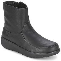 kengät Naiset Nilkkurit FitFlop LOAFF SHORTY ZIP BOOT Musta