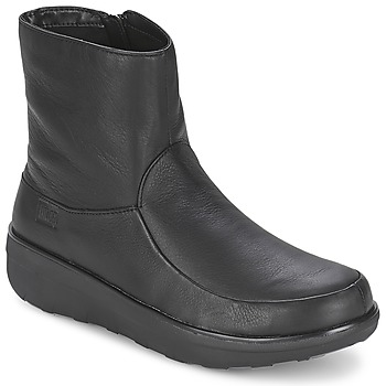 kengät Naiset Nilkkurit FitFlop LOAFF SHORTY ZIP BOOT Black