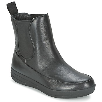 kengät Naiset Bootsit FitFlop FF-LUX CHELSEA BOOT Musta