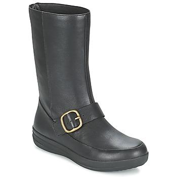 kengät Naiset Bootsit FitFlop FF-LUX BIKER Black