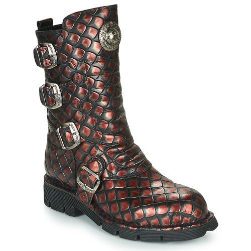 kengät Naiset Bootsit New Rock  Black / Red