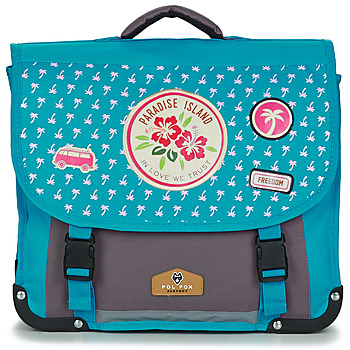 laukut Tytöt Koululaukut Rentrée des classes POL FOX PARADISE ISLAND CARTABLE 38 CM Blue / Grey