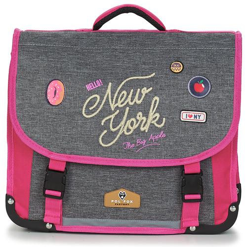 laukut Tytöt Koululaukut Rentrée des classes POL FOX NEW YORK CARTABLE 38 CM Grey / Pink