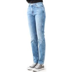 vaatteet Naiset Skinny-farkut Wrangler Boyfriend Best Blue W27M9194O blue