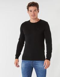vaatteet Miehet Neulepusero Tom Tailor FLORET Musta