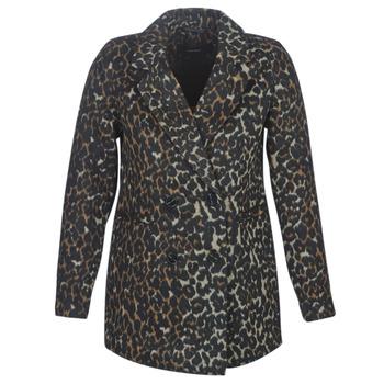 vaatteet Naiset Paksu takki Vero Moda VMCOCOLEOPARD Brown