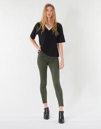 vaatteet Naiset 5-taskuiset housut Vero Moda VMSEVEN Kaki