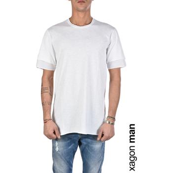 vaatteet Miehet Lyhythihainen t-paita Xagon Man  Valkoinen