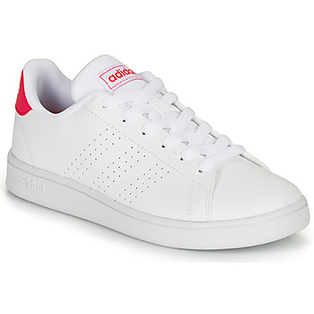 kengät Tytöt Matalavartiset tennarit adidas Originals ADVANTAGE K JU White
