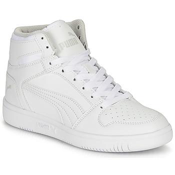 kengät Lapset Korkeavartiset tennarit Puma REBOUND LAYUP B White