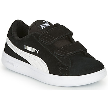 kengät Pojat Matalavartiset tennarit Puma SMASH V2 SD V Black