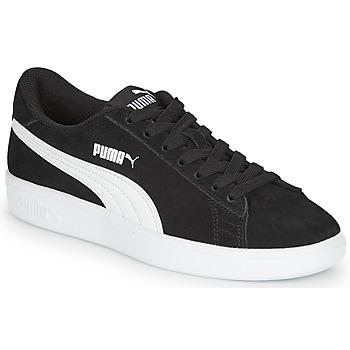 kengät Pojat Matalavartiset tennarit Puma Puma Smash v2 SD Jr Black