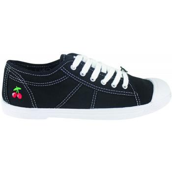 kengät Naiset Matalavartiset tennarit Le Temps des Cerises Basic 02 Musta