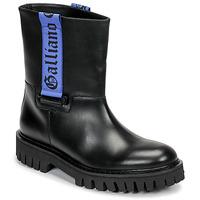 kengät Miehet Bootsit John Galliano 8560 Musta / Sininen