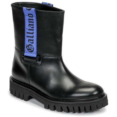 kengät Miehet Bootsit John Galliano 8560 Black / Blue