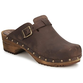 kengät Naiset Puukengät Sanita KRISTEL OPEN Brown