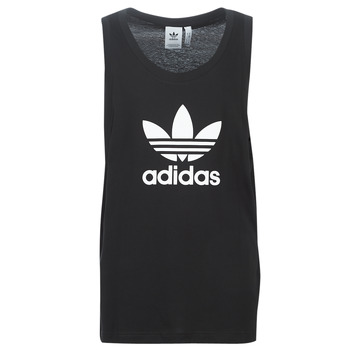vaatteet Miehet Hihattomat paidat / Hihattomat t-paidat adidas Originals TREFOIL TANK Black