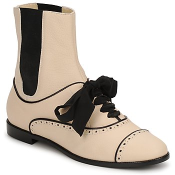 kengät Naiset Bootsit Moschino MA2103 BEIGE