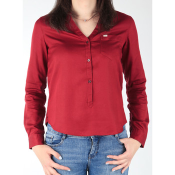 vaatteet Naiset Paitapusero / Kauluspaita Lee L47QLCPR burgundy